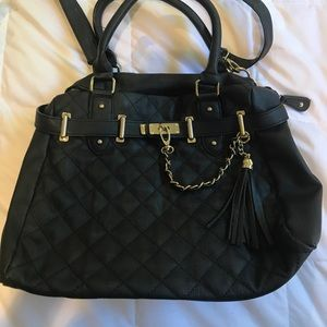 Steve Madden Quilted Black Purse